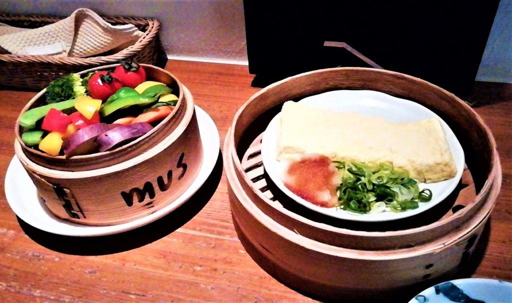 梅田駅にあるmusの旬の野菜のせいろ蒸し