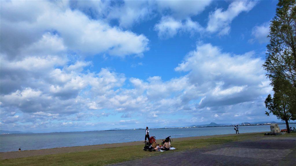 なぎさWARMS/琵琶湖の景色/なぎさのテラス