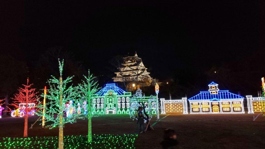 大阪城イルミナージュ/イルミネーション/大阪城
