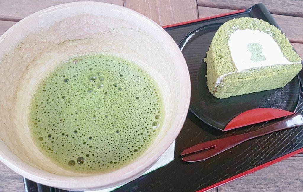 堺市にある古墳カフェの抹茶スイーツ
