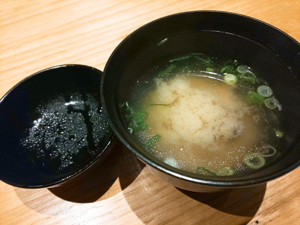 鮨割烹海宮の味噌汁