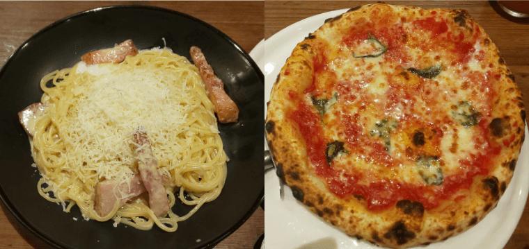 ピソラの窯焼きピッツァと生パスタ