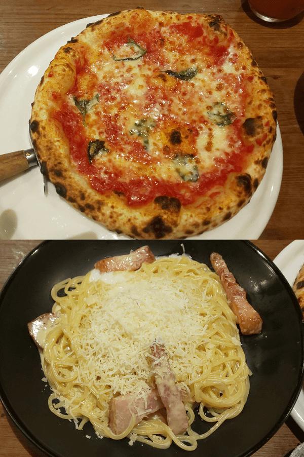 堺市にあるピソラの窯焼きピッツァと生パスタ