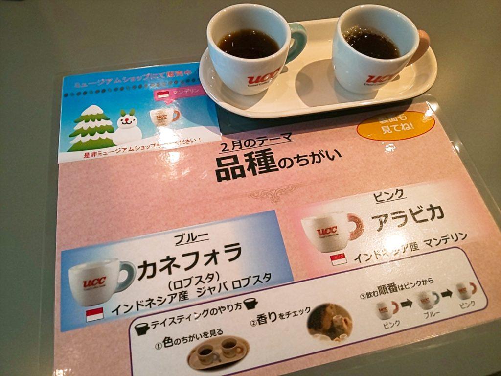UCCコーヒー博物館の品種の違い