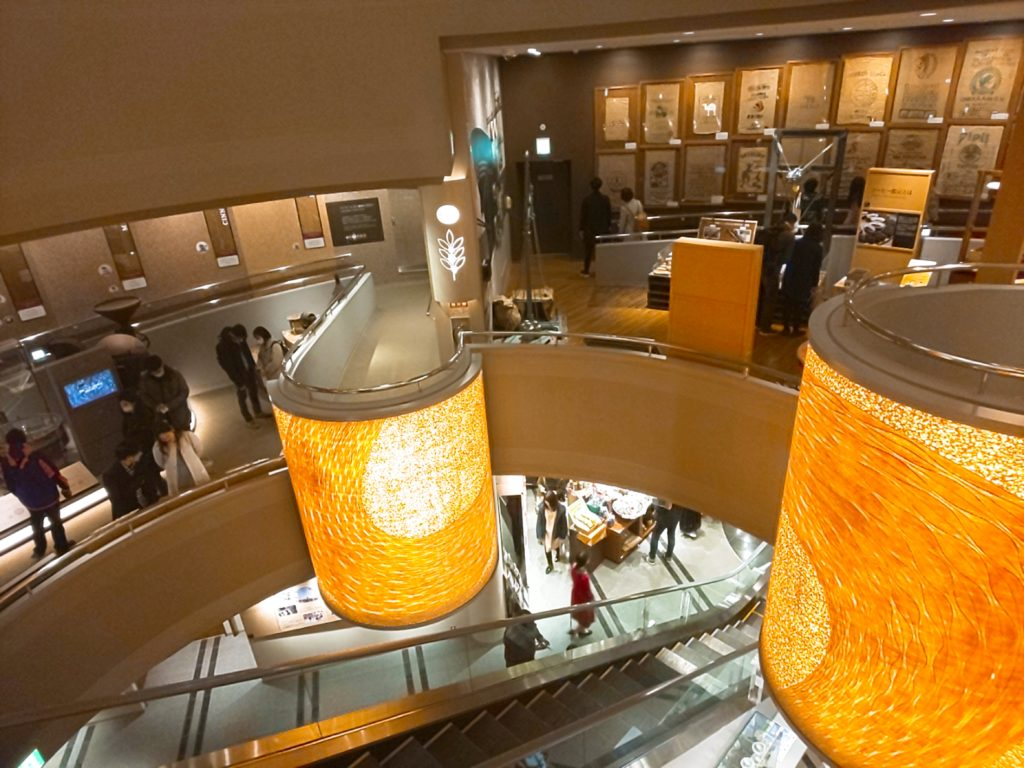UCCコーヒー博物館の展示室