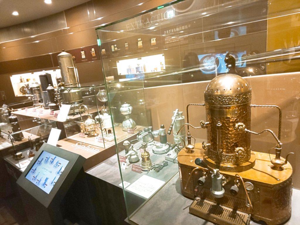 UCCコーヒー博物館の抽出機