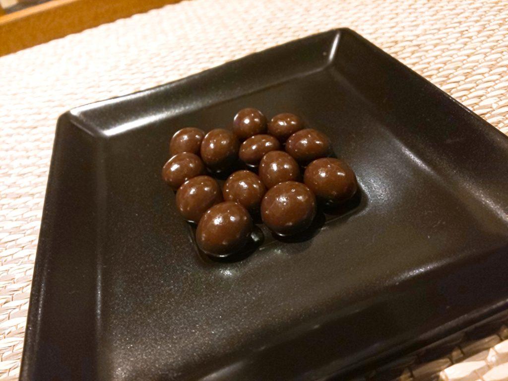 UCCコーヒー博物館お土産のコーヒービーンズチョコレートを食べてみた