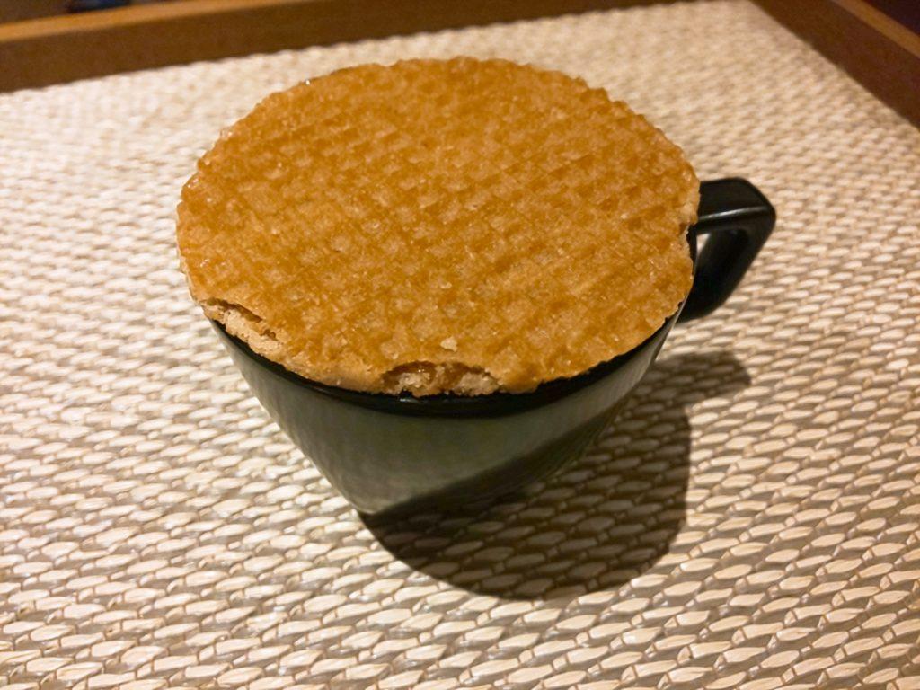 UCCコーヒー博物館お土産のキャラメルワッフルの食べ方