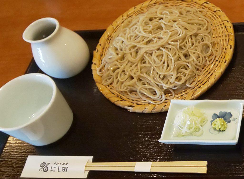 八尾市にあるにし田の十割蕎麦