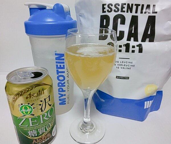 BCAAカクテルのビターレモンとビールでパナシェ風