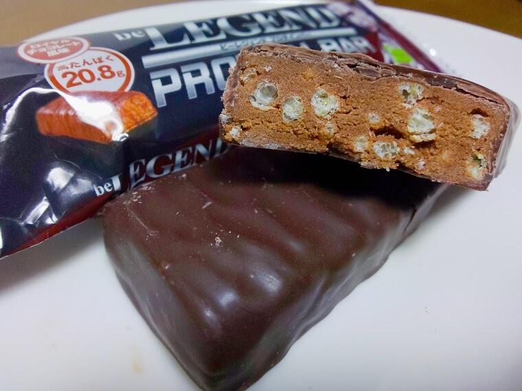 ビーレジェンドのプロテインバーのロイヤルチョコレート風味
