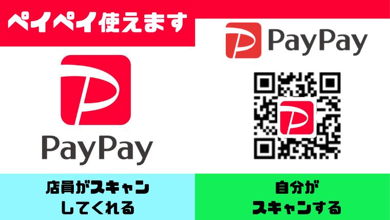 ペイペイの支払い方法の見分け方