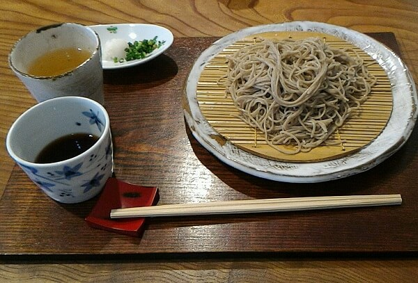 桜井市にある笠そば処のざる蕎麦