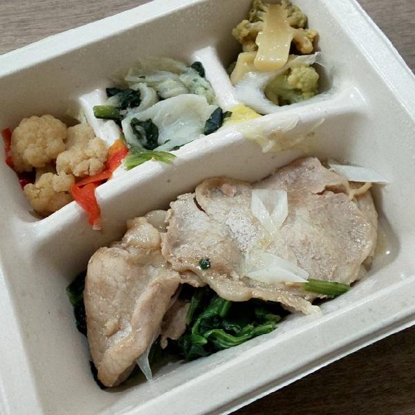 ナッシュ宅配冷凍弁当の豚の生姜焼き